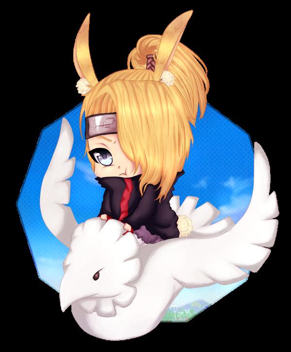 Chibi bunny Dei-kun by pancuesito