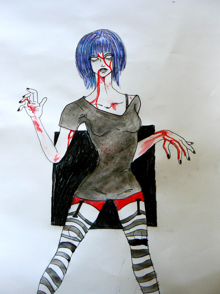 12. Day: Zombie Girl by chaosqueen122