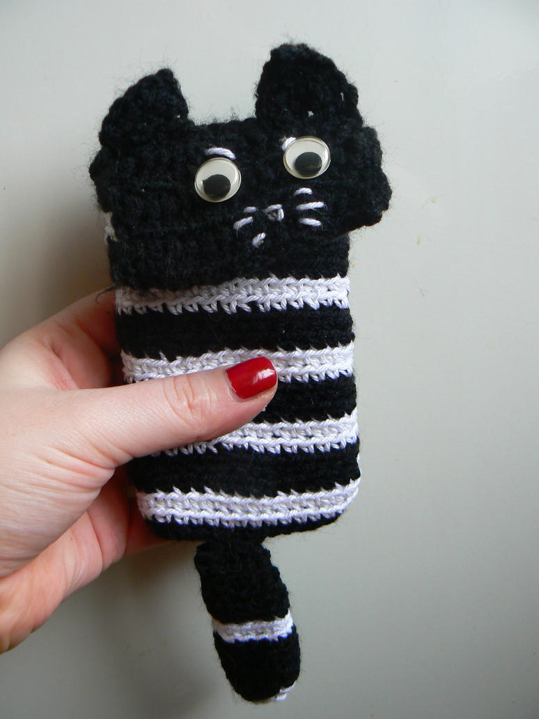 grumpy kitty phone bag by chaosqueen122