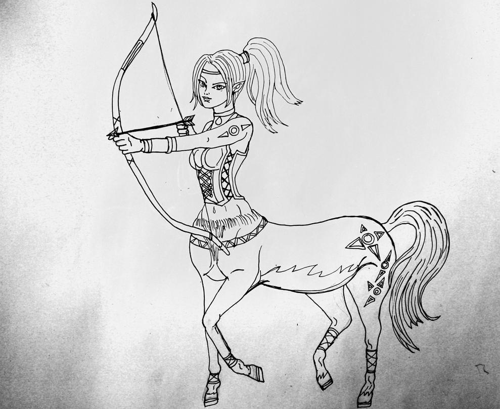 Comic Collab: Centaur by chaosqueen122
