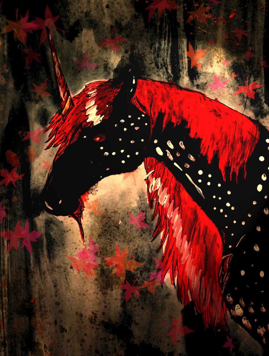 Dark Unicorn by chaosqueen122