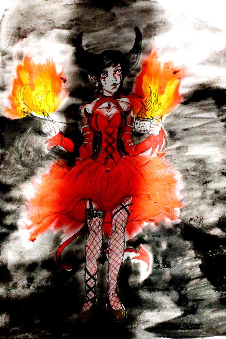 Drawloween: Devil by chaosqueen122