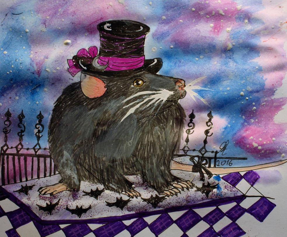 A fancy rat by chaosqueen122