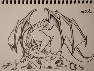 Inktober 2018 #21 - Lies Greed Misery by DragoonDarknight