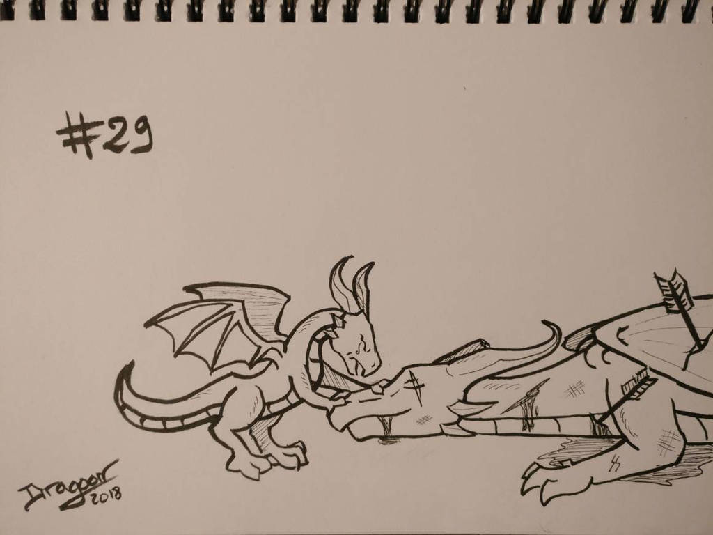 Inktober 2018 #29 - Leave Out All The Rest by DragoonDarknight