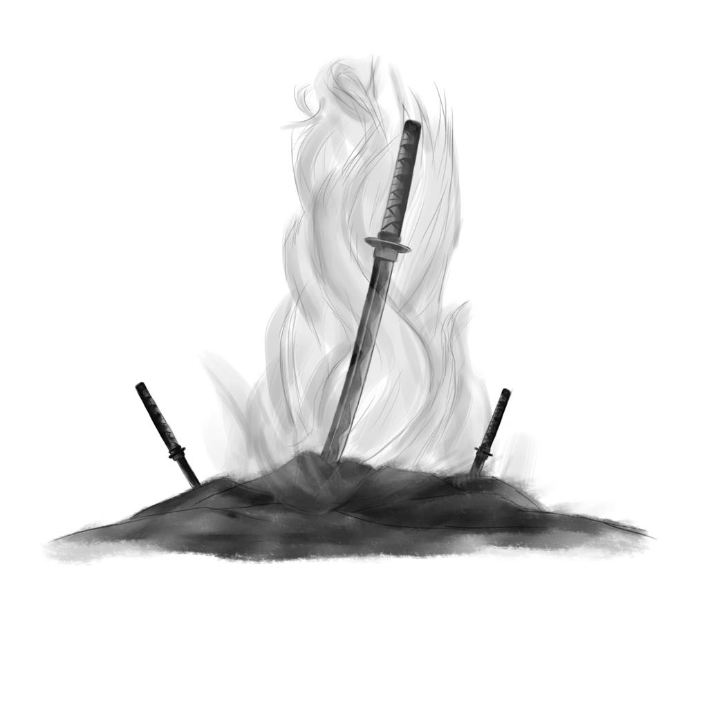 Nioh Swords (B/W Version) by sketchygerry