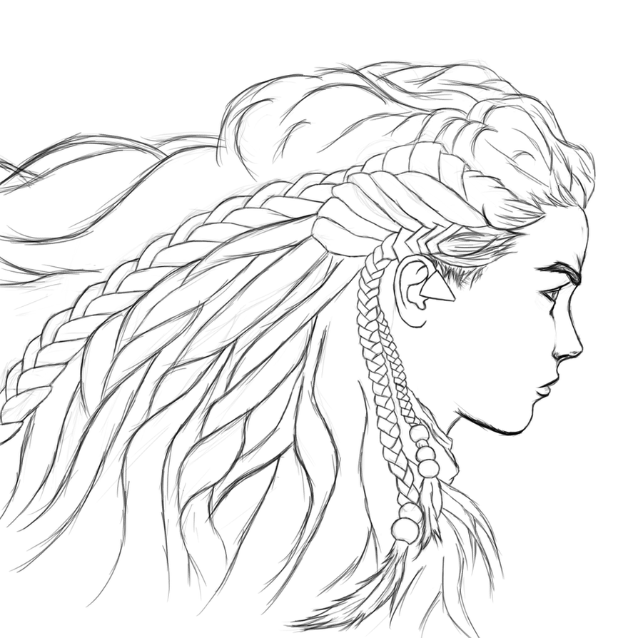 Aloy - Horizon Zero Dawn (sketch-wip) by sketchygerry