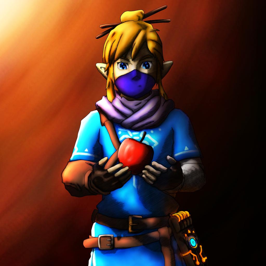 Link n Apple - Zelda BreathOfTheWild by sketchygerry