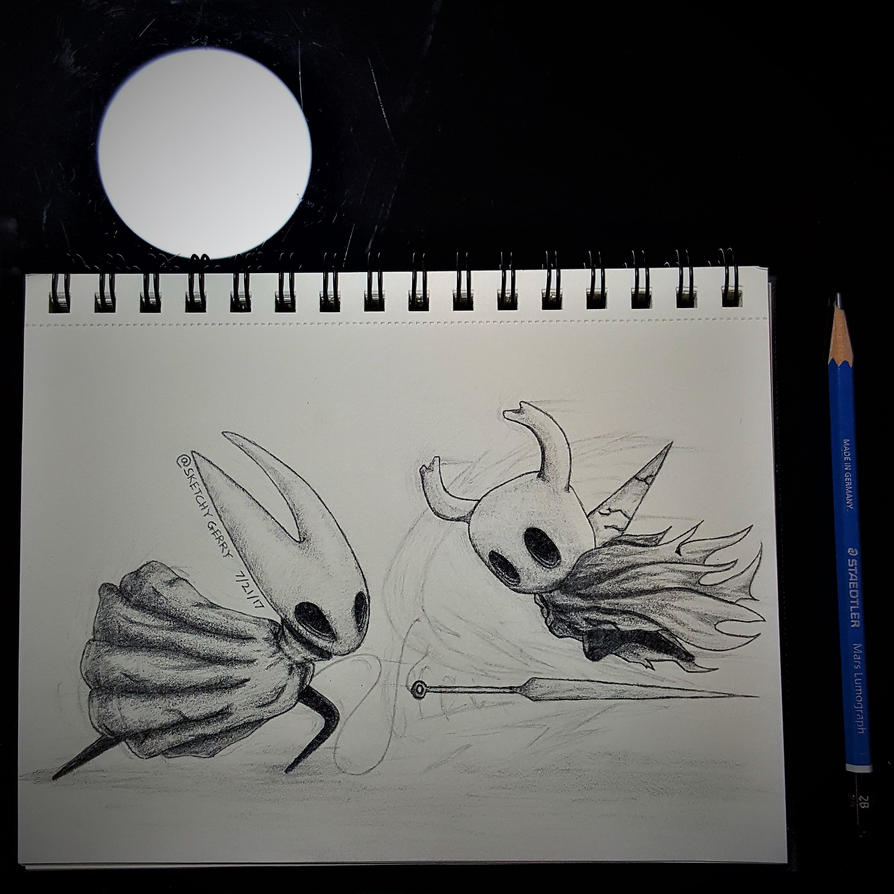Hornet Vs. HollowKnight by sketchygerry