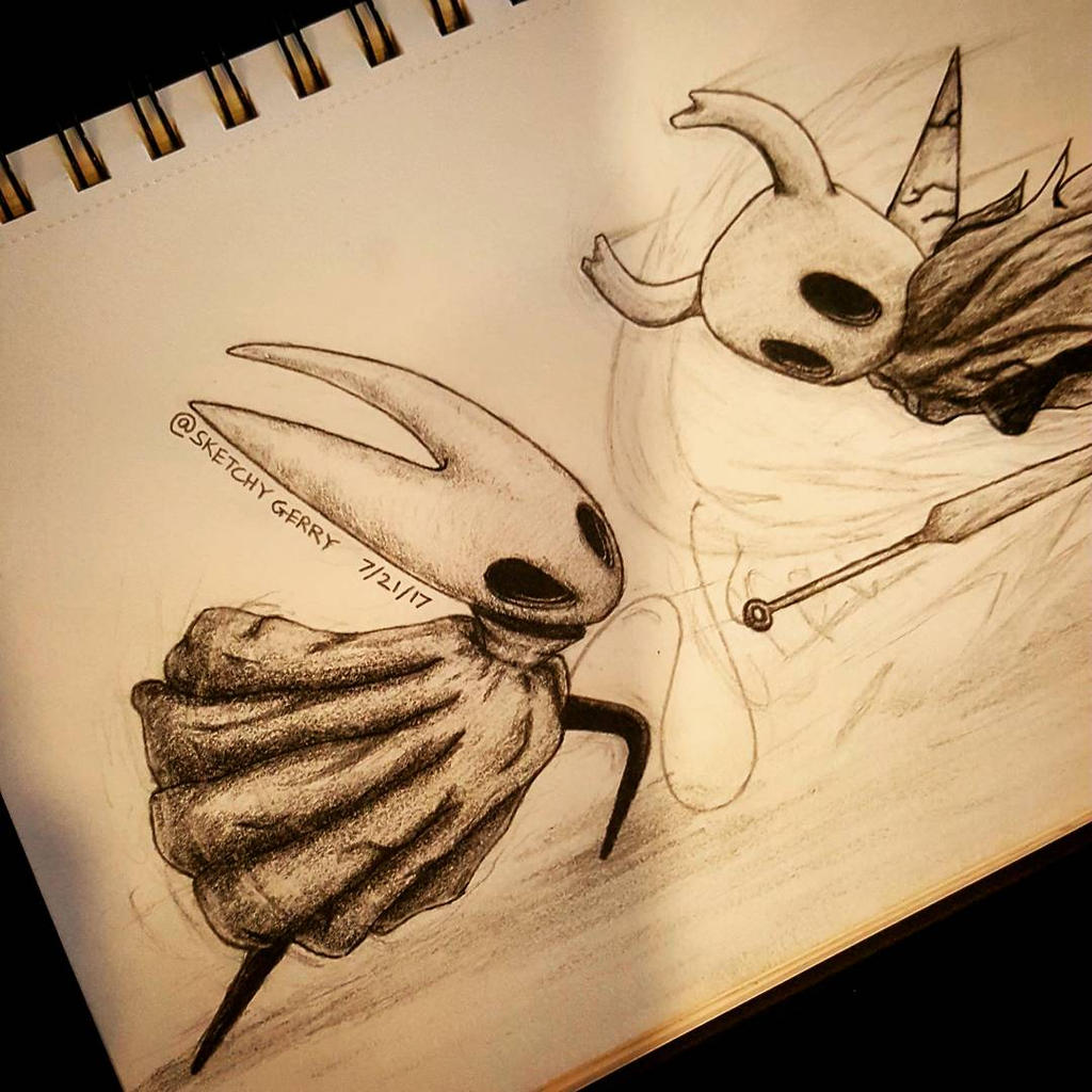 Hornet Vs. HollowKnight by sketchygerry