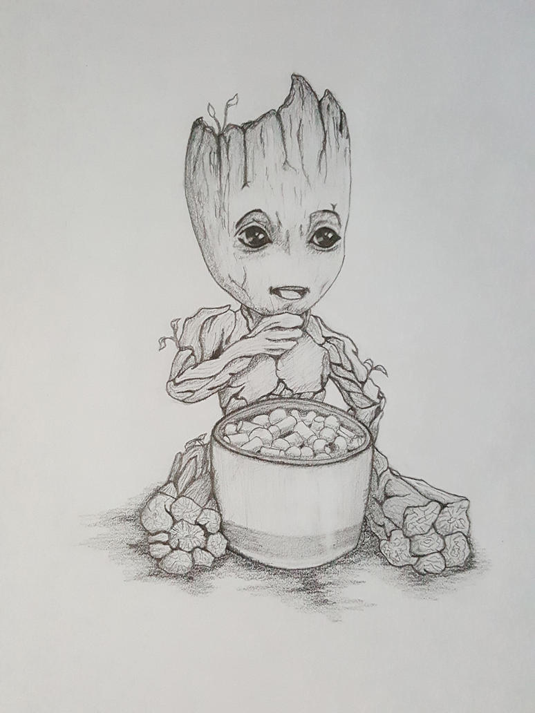 Baby Groot - Guardians of the Galaxy by sketchygerry on
