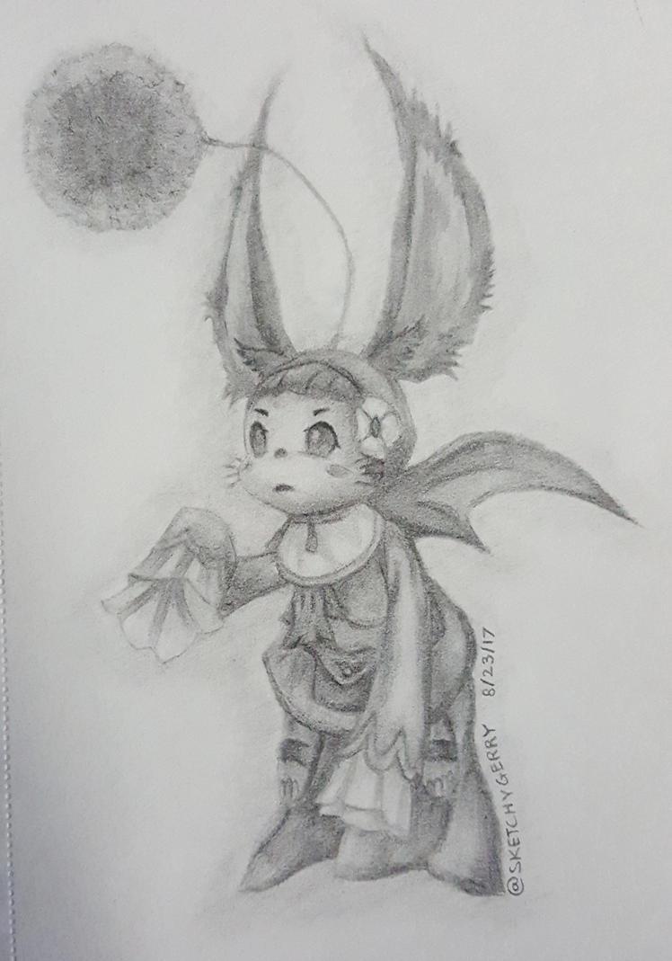 Gurdy Moogle - Final Fantasy XII by sketchygerry
