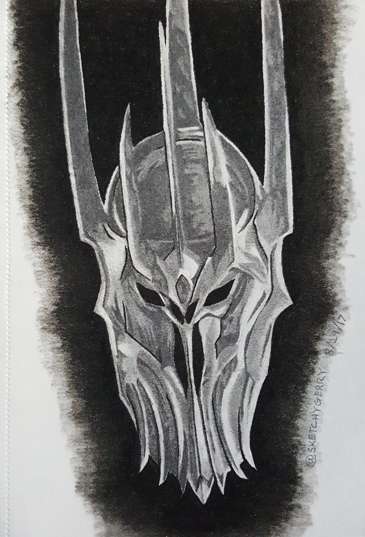 Sauron - The Lord of the Rings by sketchygerry