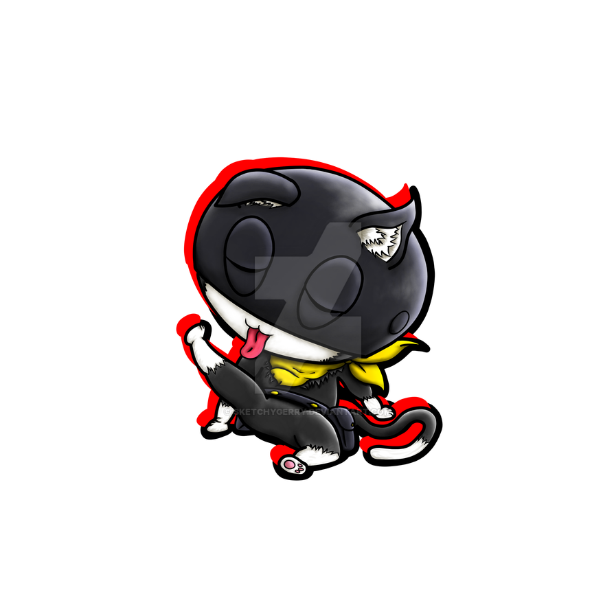 Morgana (Mona) - Persona5 by sketchygerry