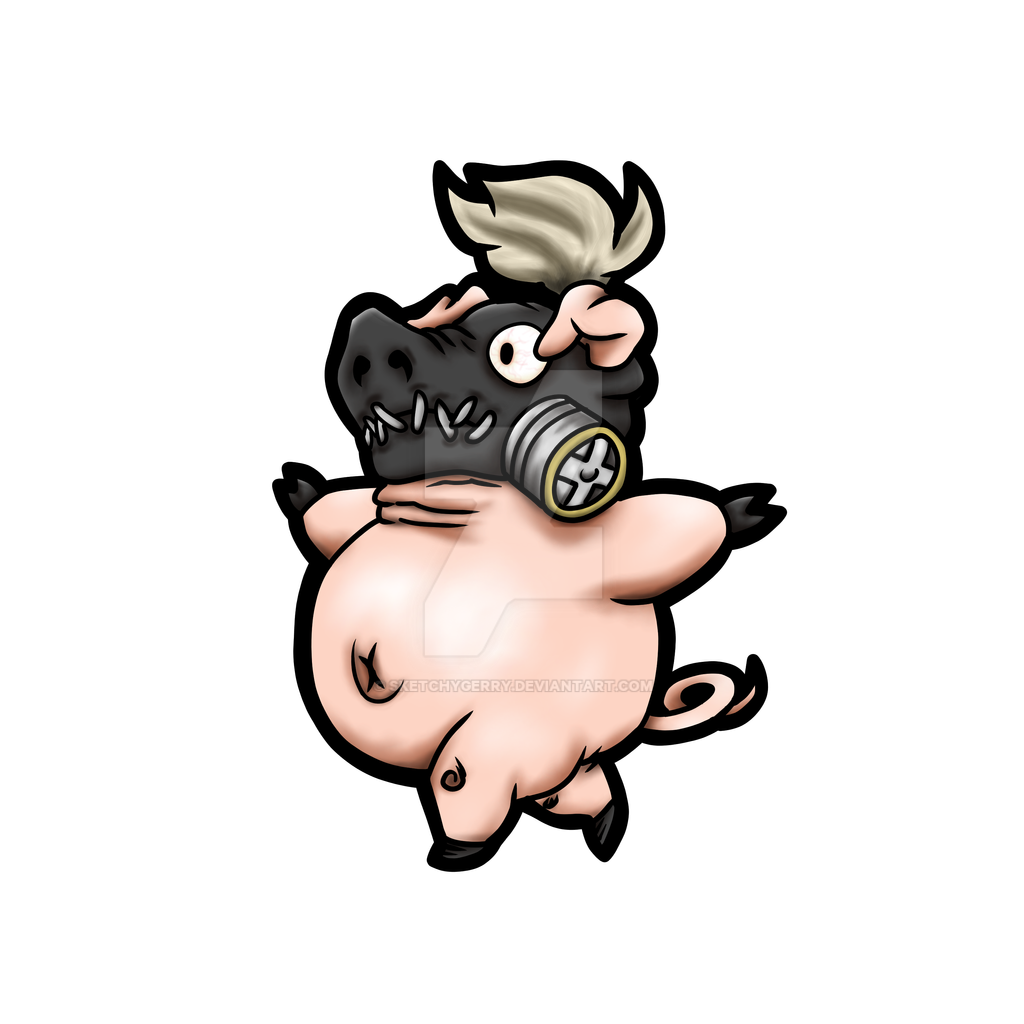Roadhog Piggy - Overwatch by sketchygerry
