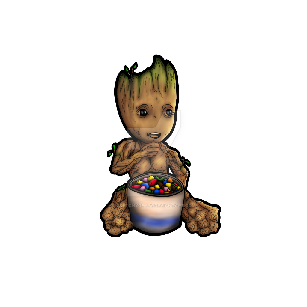 Baby Groot - Guardians of the Galaxy by sketchygerry