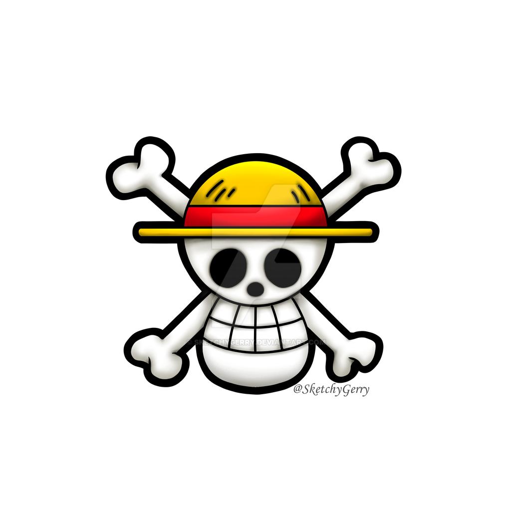 Pirate Flag - Mugiwara Pirates - One Piece by sketchygerry