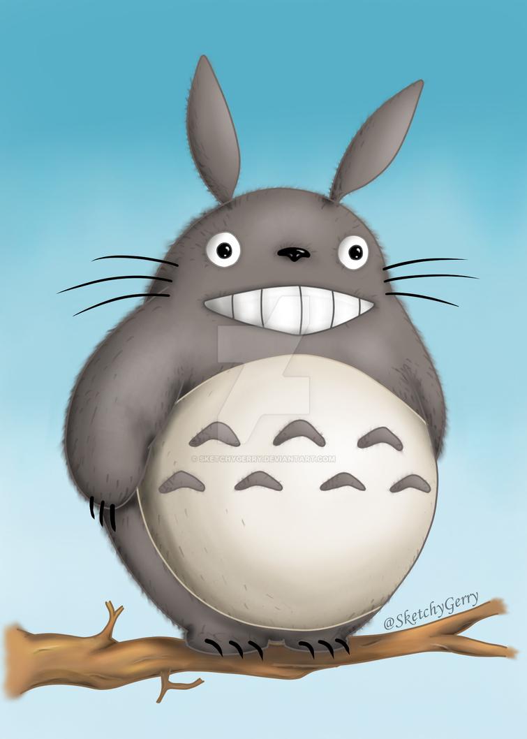 Totoro - My Neighbor Totoro by sketchygerry