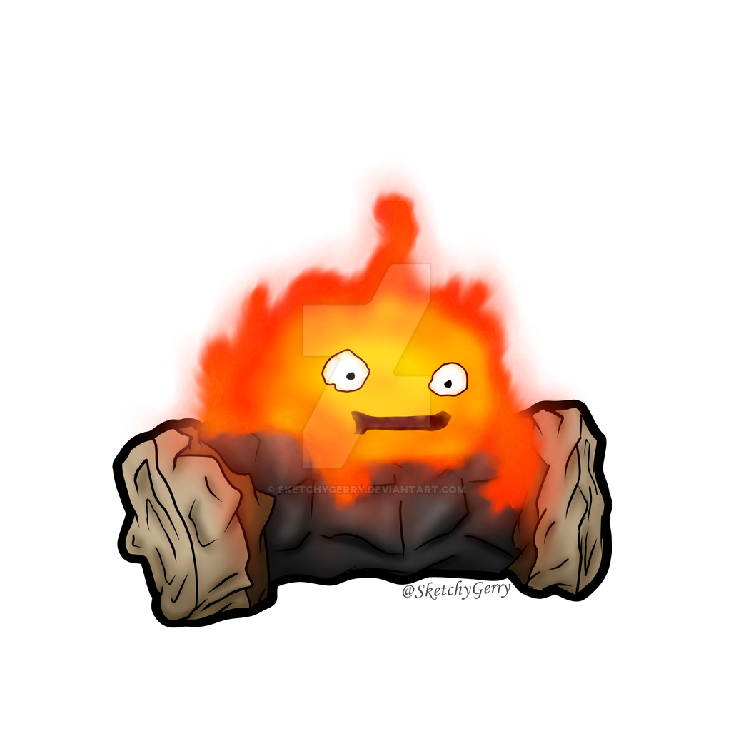 Calcifer - Howl's Moving Castle by sketchygerry