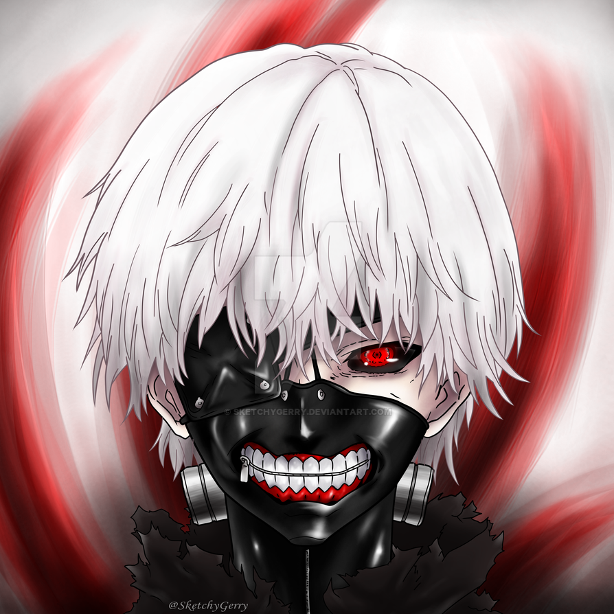 Kaneki - Tokyo Ghoul (Square ver.) by sketchygerry