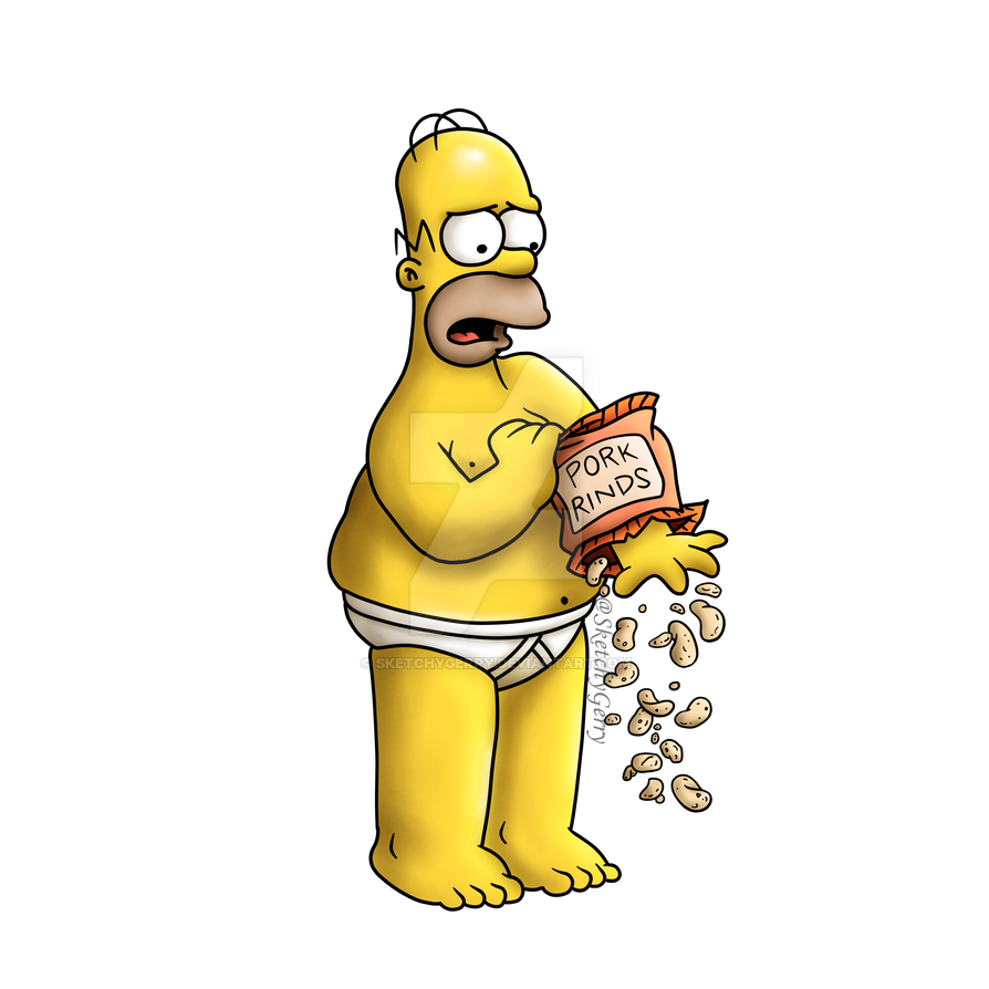 Homer Simpson by sketchygerry