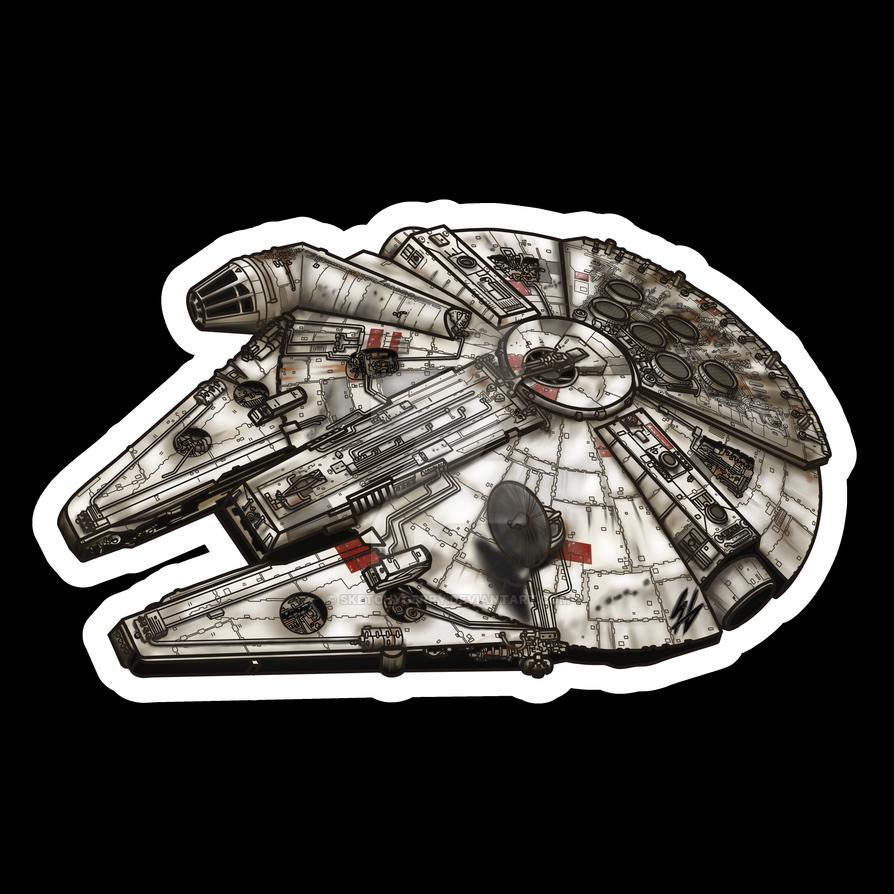 Star Wars - Millennium Falcon by sketchygerry