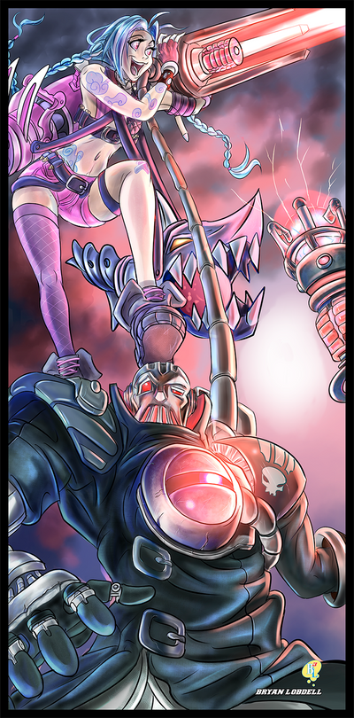 Viktor and Jinx: I'm Firing Your Lazor by Bryan-Lobdell