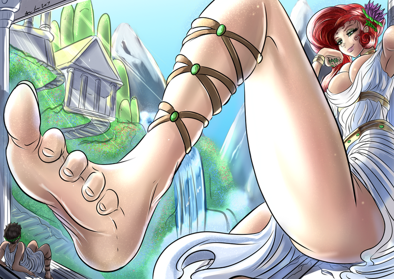 At the Foot of a Goddess by Bryan-Lobdell