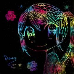 Colorful Doodle~ by Kayla-OneeChan