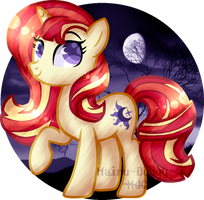 Lundawn Sparkle|MLP AU|Nightverse AU by Mairu-Doggy