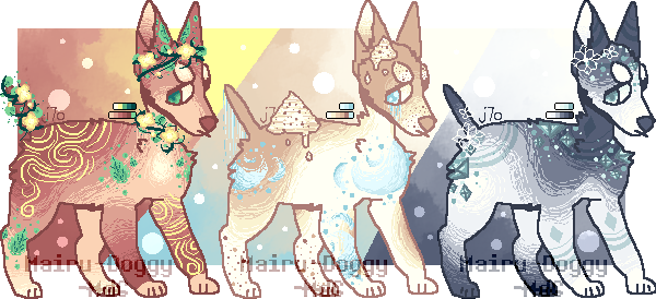[Adopts] 30 pts Doggos .:CLOSED:. by Mairu-Doggy