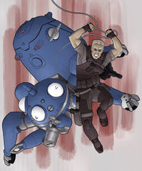 Batou and Tachikoma