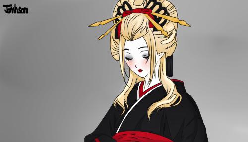 Apolline Geisha by Lola-Aiko