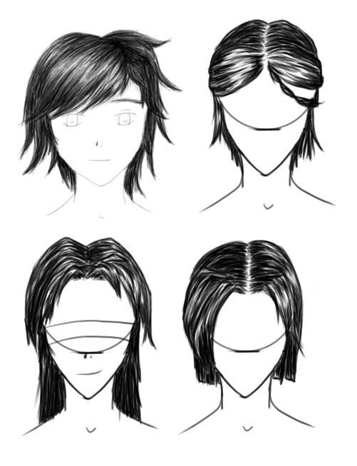 how to draw realistic anime hair