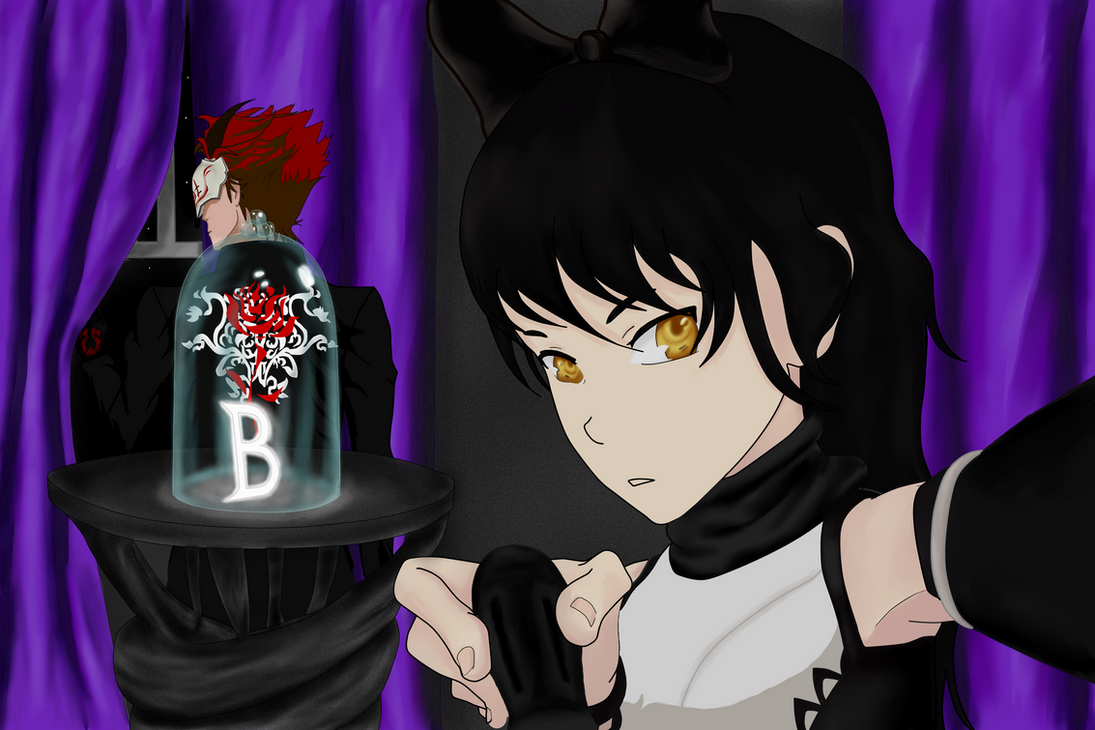 Rwby black blake and adam by ghost of truth on deviantart