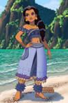 Jasmine as a Polynesian Princess