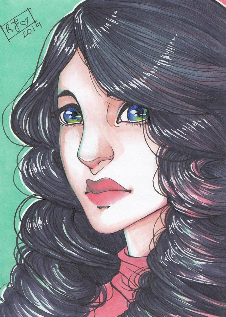 Portrait of Dianne by TheElfsCauldron