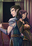 Solas and Levellan *Commission* by TheElfsCauldron