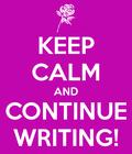 Keep Calm: Writing by kassey2000
