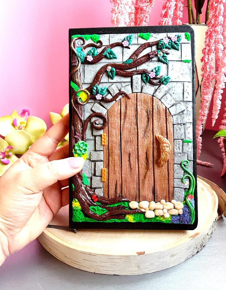 Polymer Clay Enchanted Door Notebook Cover by Alanas-Imaginarium ...  sc 1 st  Alanas-Imaginarium - DeviantArt & Polymer Clay Enchanted Door Notebook Cover by Alanas-Imaginarium on ...