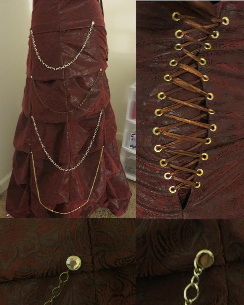 Streampunk Skirt Version One Detail by Nerds-and-Corsets