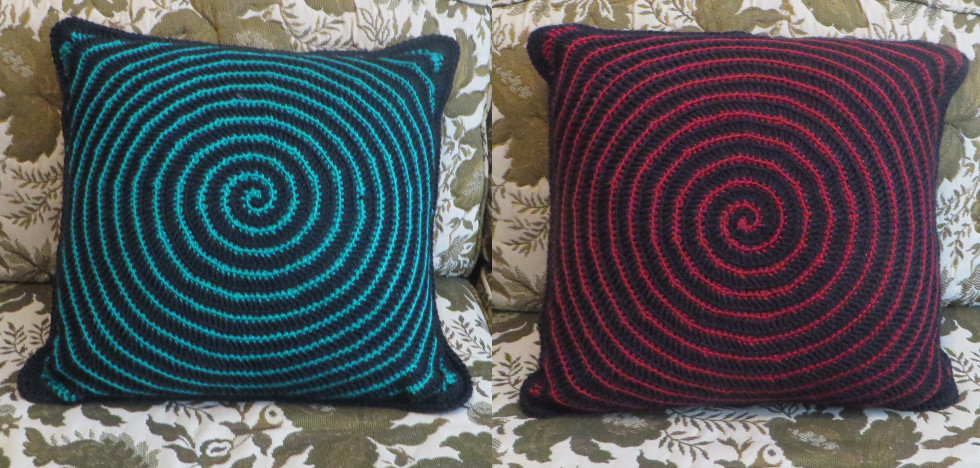 Spiral Pillow by Nerds-and-Corsets