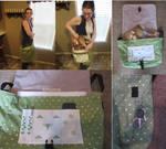 Silver Hearts Messenger Bag