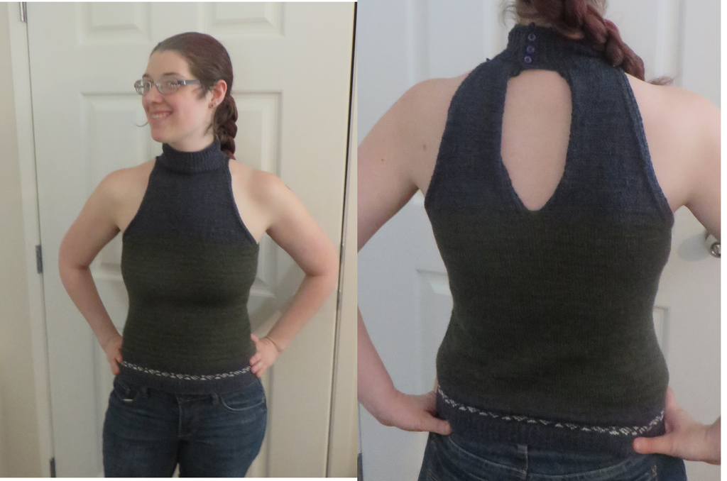 Knit Halter Top by Nerds-and-Corsets