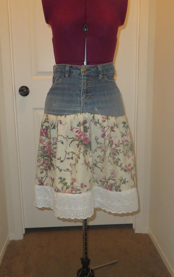Upcycled skirt by Nerds-and-Corsets
