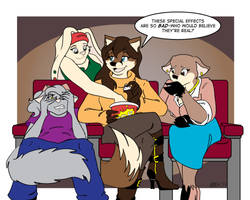 Movie Night Commission by Ellen-Natalie