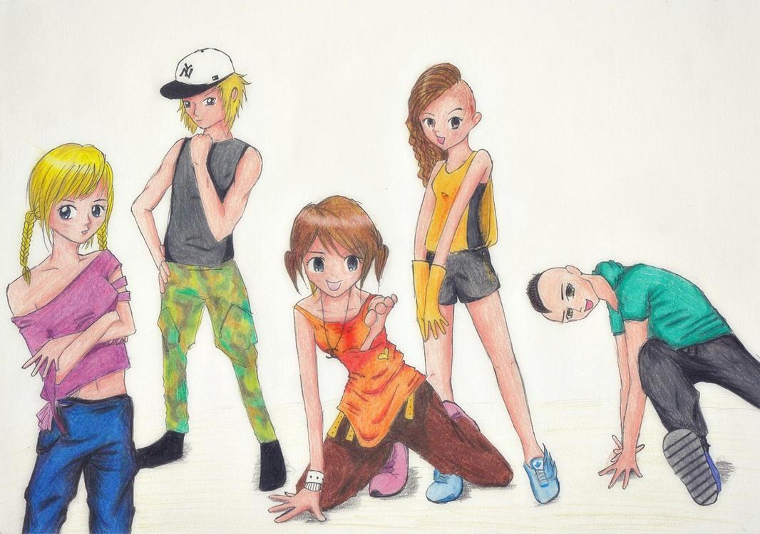 [Manga school project] Street Dance by pinkshoo