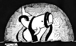 Inktober 2018 Whale