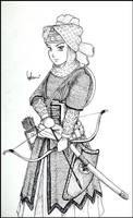Lady Ahu the Mameluk Warrior by Uracca
