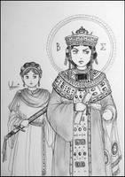 Empress of Byzantium by Uracca